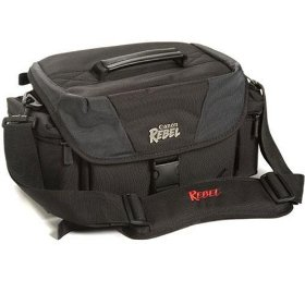 Canon SLR Gadget Bag For the Digital Rebel XT, XTi, XS, XSi, 350D, 400D, 1000D, or 450D Digital Camera (Color: Black with Gray)