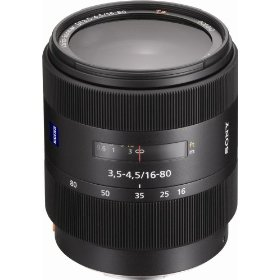 Sony SAL-1680Z 16-80mm f/3.5-4.5 Carl Zeiss Vario-Sonnar T DT Zoom Lens for Sony Alpha Digital SLR Camera