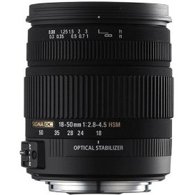 Sigma 18-50mm f/2.8-4.5 SLD Aspherical DC Optical Stabilized (OS) Lens with Hyper Sonic Motor (HSM) for Nikon Digital SLR Cameras