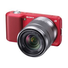 Sony Alpha NEX-3 Interchangeable Lens Digital Camera w/18-55mm Lens (Red)- 14.2 Mpix