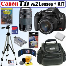 Canon EOS Rebel T1i 15.1 MP CMOS Digital SLR Camera with EF-S 18-55mm f/3.5-5.6 IS Lens & EF 75-300mm f/4-5.6 III