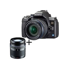 Olympus E-620 Digital SLR Camera with 14mm - 42mm F3.5-5.6 & ED 40-150mm F4.0-5.6 Zuiko Digital Zoom Lenses - Refurbished by Olympus U.S.A.