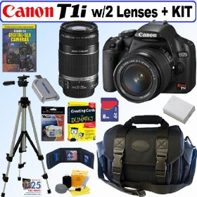 Canon EOS Rebel T1i 15.1 MP CMOS Digital SLR Camera with Accessory Kit