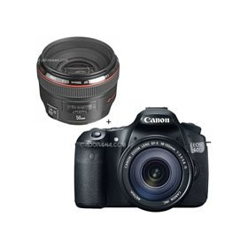 Canon EOS 60D Digital SLR Camera / Lens Kit. With EF 18-135mm f/3.5-5.6 IS USM Lens & EF 50mm f/1.2L USM Ultra-Fast Standard AutoFocus Lens