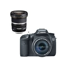 Canon EOS-7D Digital SLR Camera / Lens Kit, with Canon EF-S 18-135mm f/3.5-5.6 IS Auto Focus Lens, and EF-S 10mm - 22mm f/3.5-4.5 USM Autofocus Zoom Lens