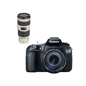 Canon EOS 60D Digital SLR Camera / Lens Kit. With EF-S 18-135mm f/3.5-5.6 IS Lens & EF 70-200mm f/4L IS USM Autofocus Telephoto Zoom Lens