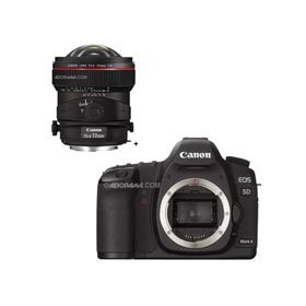 Canon EOS-5D Mark II Digital SLR Camera Body with TS-E 17mm f/4L Tilt-Shift Manual Focusing Lens