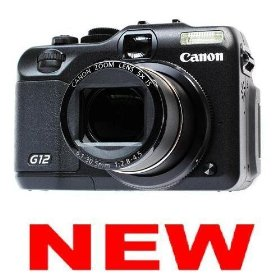 NEW~CANON POWERSHOT G12 *BLACK* DIGITAL CAMERA - 10.0 Megapixel, Large, bright 2.8-inch Vari-angle LCD ~1 Bonus: Camera Case~