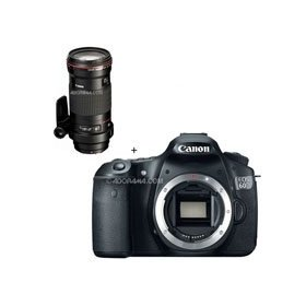 Canon EOS 60D Digital SLR Camera Body, with EF 180mm f/3.5L Macro USM AutoFocus Telephoto Lens