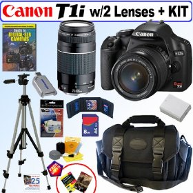 Canon EOS Rebel T1i - Digital camera - SLR - 15.1 Mpix - Canon EF-S 18-55mm IS and EF 75-300mm lenses - optical zoom: 3 x - supported memory: SD, SDHC