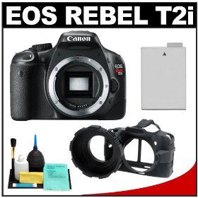 Canon EOS Rebel T2i 18.0MP Digital SLR Camera (Black) with Battery + Camera Armor + Cleaning Kit