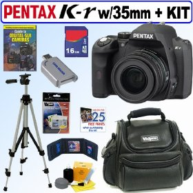 Pentax K-r Digital SLR Camera with SMCP-DA 35mm f/2.4 AL Lens + 16GB Deluxe Accessory Kit