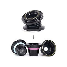 Lensbaby Optic Swap System Muse with Double Glass Optic Selecive Focus Lens for Nikon F type mount SLR's with Lensbaby Optic Box Set Bundle for Composer, Muse, & Control Freak