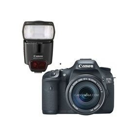 Canon EOS-7D Digital SLR Camera / Lens Kit, with Canon EF-S 18-135mm f/3.5-5.6 IS Auto Focus Lens, and Speedlite 430EX II