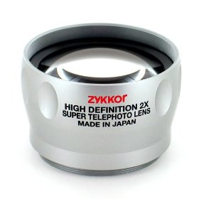 Zykkor 2x HD Platinum Pro Super Telephoto 52mm/58mm Lens - Silver - Made in Japan