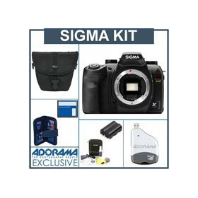 Sigma SD-15 Digital SLR Camera Body Kit, with 8GB SD Memory Card, Spare Sigma BP-21 Lithium-ion Battery. Camera Case,USB 2.0 Card Reader, Professional Lens Cleaning Kit, Memory Card Holder (4)