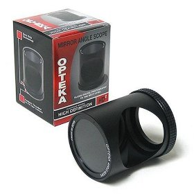 Opteka Voyeur Right Angle Spy Lens for JVC GZ-MC100 MC200 DZ7 D73 GR-D53 GR-DX300 DVM70 D200 GR-DVL105 GZ-MS100 JVC GL-AW30 & GL-AT30 30.5MM