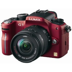 Panasonic Lumix DMC-G1 12.1MP Digital Camera with Lumix G Vario 14-45 mm f/3.5-5.6 ASPH Mega OIS Lens (Red)
