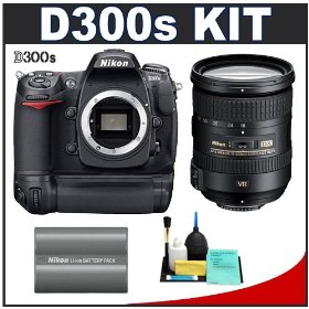 Nikon D300s Digital SLR Camera + 18-200mm VR [Vibration Reduction] II DX Lens + MB-D10 Grip + EN-EL3e Battery + Cameta Bonus Accessory Kit