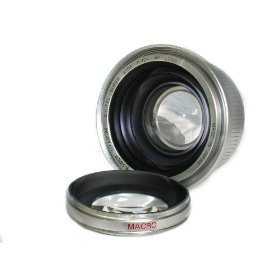 Bower 46mm Titanium Super Wide Lens 0.42x AF with Macro in Silver color