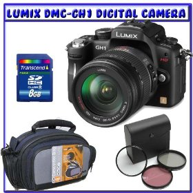 Panasonic Lumix DMC-GH1 12.1 MP 1080p HD Video Digital Camera w/ 14-140mm f/4-5.8 Lens + Unpack & Shoot Pack K#1