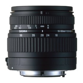 Sigma V9927 18-50mm F3.5-5.6 DC Lens plus 55-200mm Mount for Canon Digital SLR's