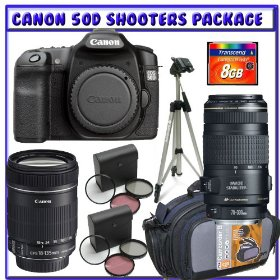 Canon EOS 50D Digital SLR (Camera Body) + Canon EF-S 18-135mm f/3.5-5.6 IS Lens + Canon EF 70-300mm f/4-5.6 IS USM Lens + 8GB CF + Willoughby's Shooters Package