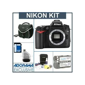 Nikon D90 12.3 Megapixel Digital SLR Camera Kit. with 8GB SD Memory Card, Spare EN-EL3e Lithium-Ion Rechargeable Battery, Slinger Camera Bag, USB 2.0 SD Card Reader,Professional Lens Cleaning Kit