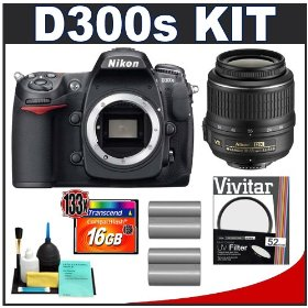 Nikon D300s Digital SLR Camera + 18-55mm VR DX Zoom Lens + 16GB Card + (2x) EN-EL3e Battery Packs + UV Filter + Cameta Bonus Accessory Kit