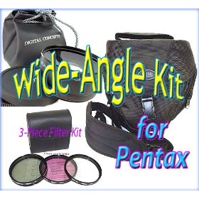Wide-Angle Accessory Kit for Pentax *ist,K10D,K100D,K20D,K-7,K-x dSLRs