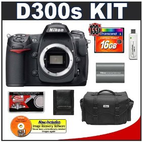 Nikon D300s Digital SLR Camera + 16GB Card + EN-EL3e Battery + Case + Cameta Bonus Accessory Kit