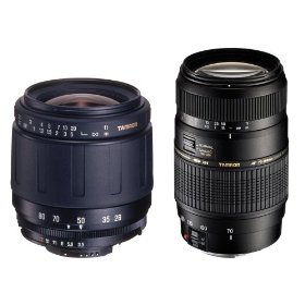 Tamron Twin Zoom Kit 3: AF 28-80mm f/3.5-5.6 Aspherical Lens and AF 70-300mm f/4.0-5.6 DI Lens for Sony DSLR Cameras
