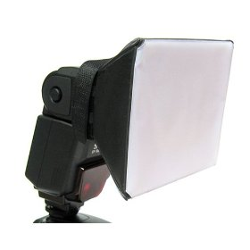 Opteka SB-1 Mini Universal Studio Soft Box Flash Diffuser for Canon EOS, Nikon, Olympus, Pentax, Sony, Sigma, & Other External Flash Units