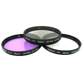 Zeikos ZE-FLK58 58mm Multi-Coated 3 Piece Filter Kit (UV-CPL-FLD)