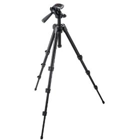 Manfrotto 7301YB-BB M-Y Tripod with 3-Way Head (Black)