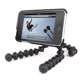 Joby Gorillamobile GM3-01EN Flexible Tripod with Soft itouch Case for iPod Touch, Universal Camera Adapter Screw, and 2 High-Bond Removable Adhesive Clips