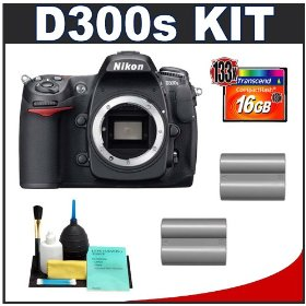 Nikon D300s Digital SLR Camera + 16GB Card + (2x) EN-EL3e Battery Packs + Cameta Bonus Accessory Kit