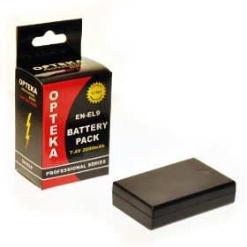 Opteka EN-EL9 2000mAh Ultra High Capacity Li-ion Battery Pack for Nikon D40, D40x, D60, D3000, & D5000 Digital SLR Cameras