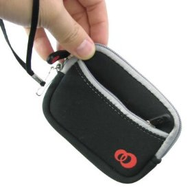 Canon Powershot Digital Camera Neoprene Cover Case Sleeve Pouch Carrying Bag (Black)
