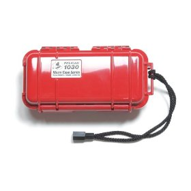 Pelican 1030 Micro-Case (Clear w/ Red Liner)