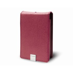 Canon PSC-1000 Deluxe Pink Leather Case for the Canon SD1000 and SD770IS Digital Cameras