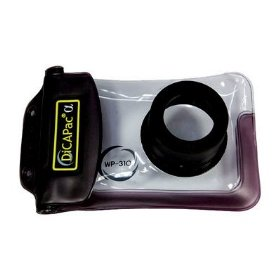 DicaPac WP310 160x105mm Medium Alfa Waterproof Digital Camera Case with Optical Lens (Clear)