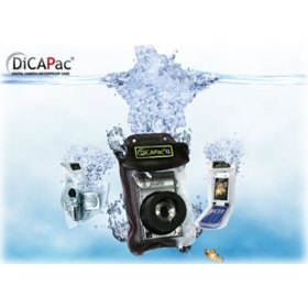 DicaPac WP510 185x118mm Large Alfa Waterproof Digital Camera Case with Optical Lens (Clear)