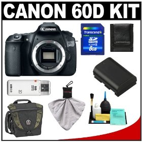 Canon EOS 60D Digital SLR Camera Body with 8GB Card + Battery + Tamrac Case + Accessory Kit