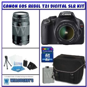 Canon Rebel T2i 18.0 MP Digital SLR w/ Canon 18-55mm IS Lens + Shooter Package K# 4