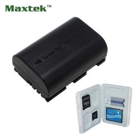 Maxtek Rechargeable Replacement Li-ion Battery For Canon LP-E6 LPE6, Fits Canon EOS 5D Mark II, EOS 7D, 60D. Made with Info-Chip, Fully Compatible, Use same as original OEM. Shows time on LCD and charges by Canon Charger!