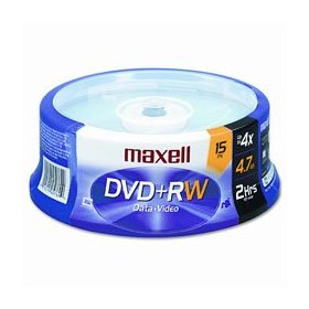 Maxell 634046 Rewritable DVD+RW (15-Pack)