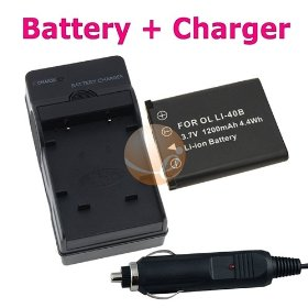 Nikon EN-EL10 Compatible Battery + Battery Charger with Car Adapter for Nikon CoolPix S200 / S210 / S220 / S230 / S3000 / S4000 / S500 / S510 / S520 / S570 / S60 / S600 / S660 / S700 Camera