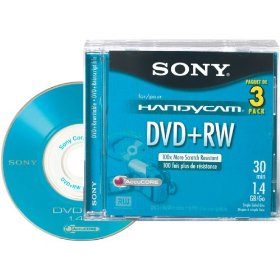 Sony 8cm DVD+RW with Hangtab (3 Pack)