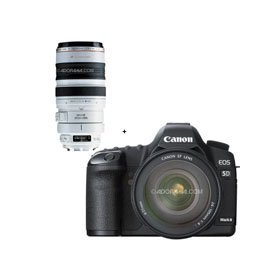 Canon EOS-5D Mark II Digital SLR Camera Body Kit with EF 24-105L IS & EF 100-400mm f/4.5-5.6L IS USM